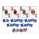 Línea de Kang de ka Tarjeta Postal