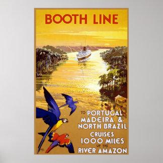Línea de la cabina a Portugal Madeira Posters