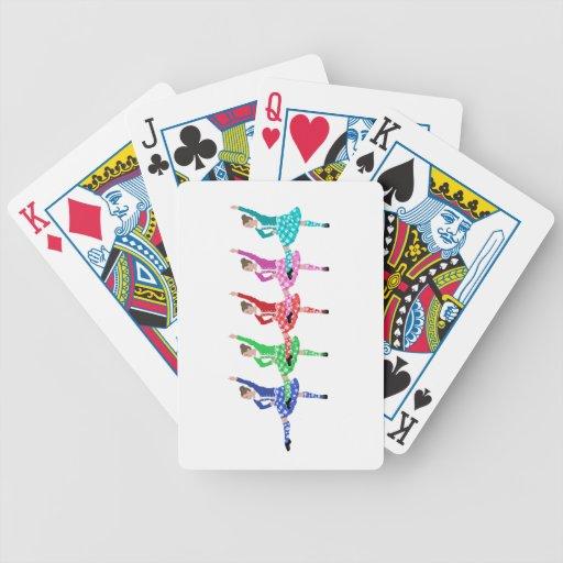 Línea de la danza de la montaña baraja cartas de poker