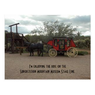 Línea de la etapa del museo de la montaña de la tarjetas postales