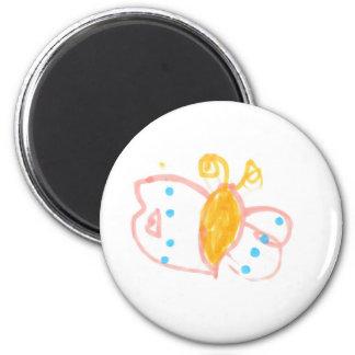 Línea de la mariposa de Hannah de productos Imán Redondo 5 Cm