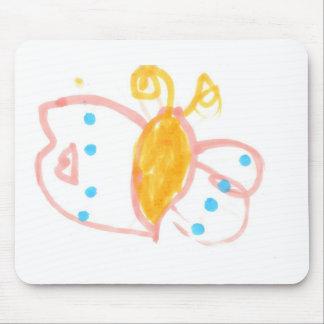 Línea de la mariposa de Hannah de productos Tapete De Ratón