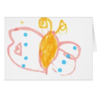 Línea de la mariposa de Hannah de productos Tarjeta De Felicitación