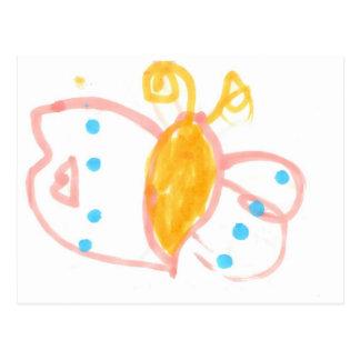 Línea de la mariposa de Hannah de productos Tarjeta Postal