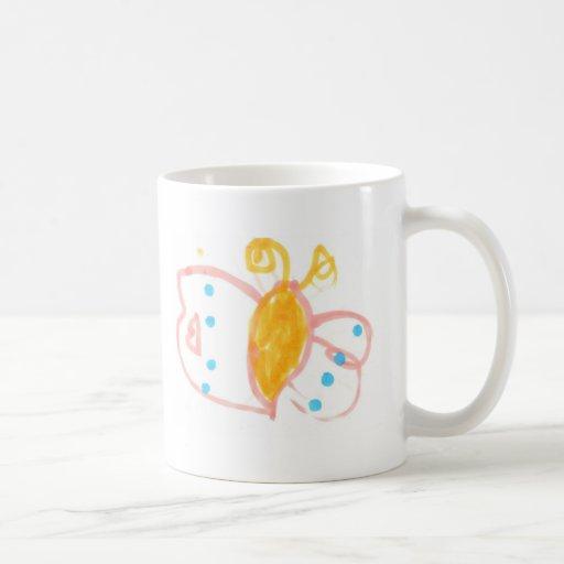 Línea de la mariposa de Hannah de productos Taza De Café