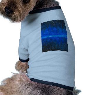 Línea de la noche paisaje urbano abstracto camisa de perrito