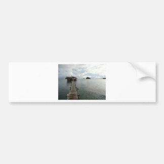 Línea de la playa 4 etiqueta de parachoque