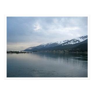 Línea de la playa a lo largo de Juneau, Alaska Postal