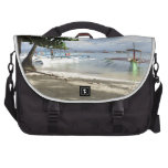 línea de la playa bolsas para portatil