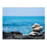 Línea de la playa de Hawaii - coral blanco, rocas Postal