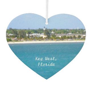 Línea de la playa de Key West en forma de corazón