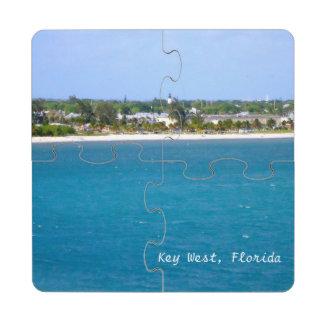 Línea de la playa de Key West Posavasos De Puzzle
