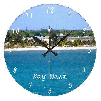 Línea de la playa de Key West Reloj Redondo Grande