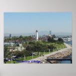 Línea de la playa de Long Beach Impresiones