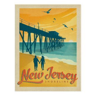 Línea de la playa de New Jersey Postal