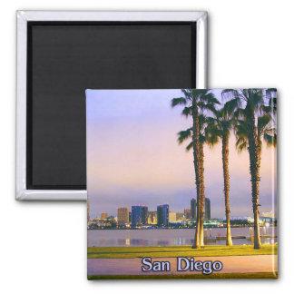 Línea de la playa de San Diego Imán De Frigorífico