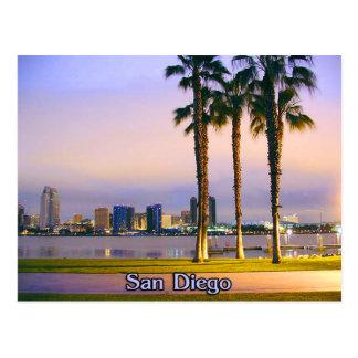 Línea de la playa de San Diego Tarjeta Postal