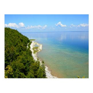 Línea de la playa del este de la isla de Mackinac Tarjetas Postales