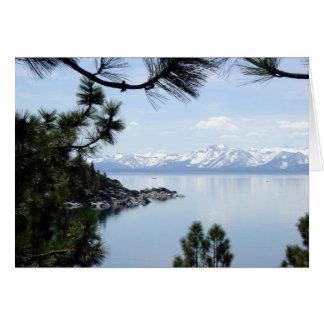 Línea de la playa del lago Tahoe Tarjeta Pequeña
