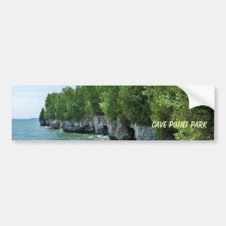 Línea de la playa del parque del punto de la pegatina para auto