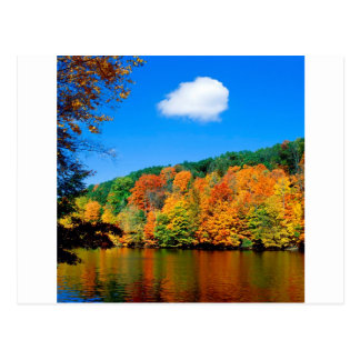 Línea de la playa estacional del otoño tarjetas postales