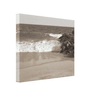 Línea de la playa impresiones de lienzo