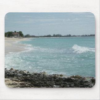 Línea de la playa mouse pads