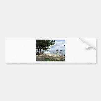 línea de la playa pegatina para auto