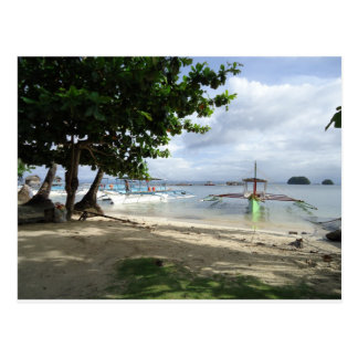 línea de la playa postal