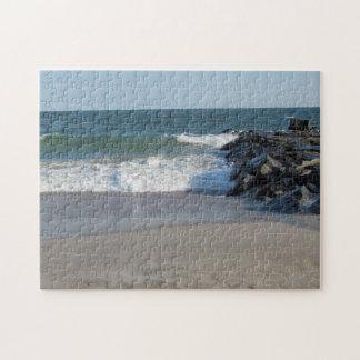 Línea de la playa rompecabeza con fotos