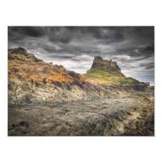 Línea de la playa rugosa fotografías