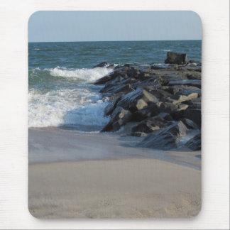 Línea de la playa tapete de ratón