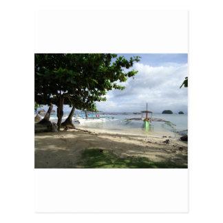 línea de la playa tarjetas postales