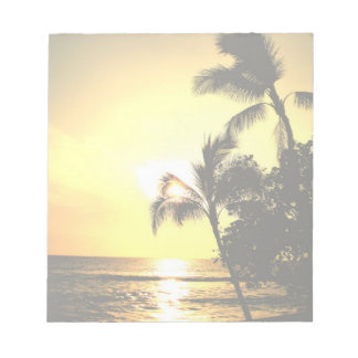 Línea de la playa tropical de la playa bloc de papel