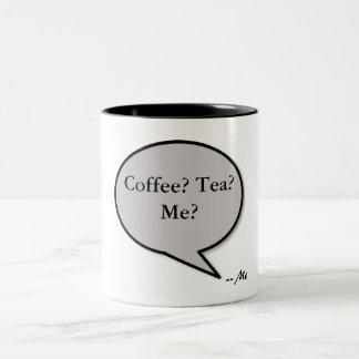Línea de la recogida -- ¿Café? ¿Té? ¿Yo? Taza De Café