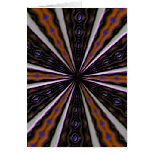 Línea de mirada extraña modelo tarjeta de felicitación