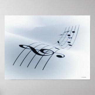 Línea de música impresiones