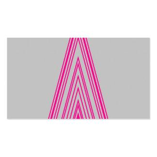 Línea de neón arte de la moda del rosa de moda del tarjetas de visita