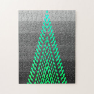 Línea de neón arte de la moda del verde de moda de
