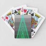 Línea de neón arte de la moda del verde de moda de cartas de juego