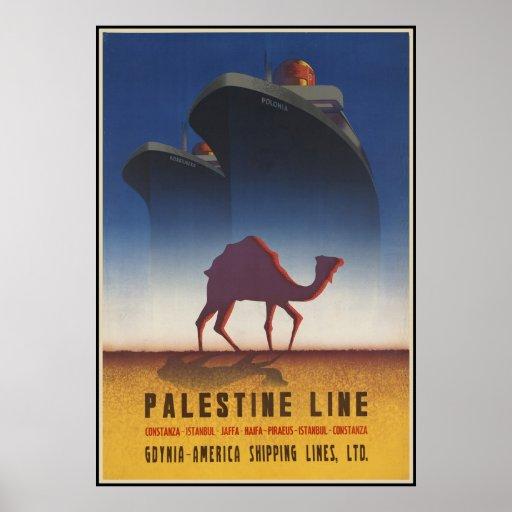 Línea de Palestina Posters