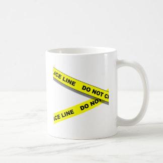 Línea de Polcie Taza De Café