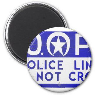 Línea de policía de New Orleans NOPD muestra - azu Imán Redondo 5 Cm