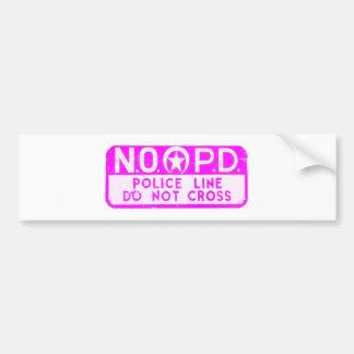 Línea de policía de New Orleans NOPD muestra - ros Pegatina Para Auto