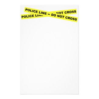 Línea de policía - no cruce papelería de diseño