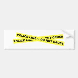 Línea de policía - no cruce pegatina para auto