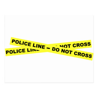 Línea de policía - no cruce postal