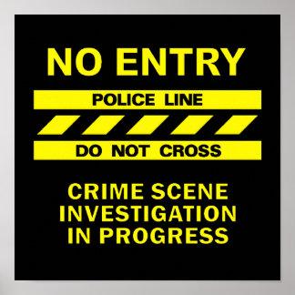 Línea de policía poster