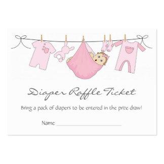 Línea de ropa de la niña tarjeta de visita de la
