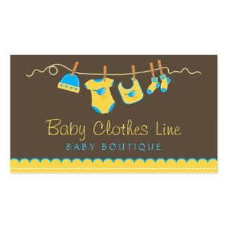 Línea de ropa del bebé tarjeta de visita del
